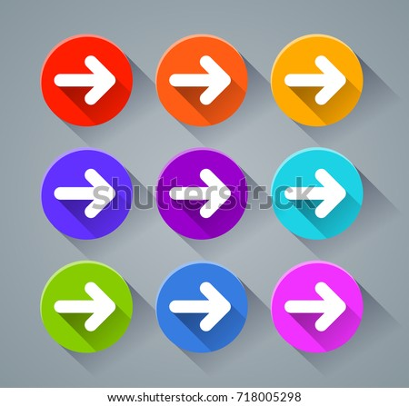 Illustration of navigation icons with various colors