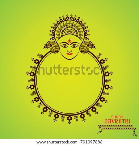 Illustration of Navratri utsav greeting card Stock photo ©