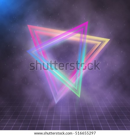 illustration of neon triangle