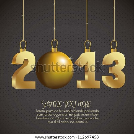 illustration of new year 2013, happy new year, vector illustration