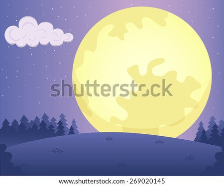 illustration of night landscape
