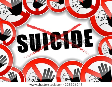 illustration of no suicide