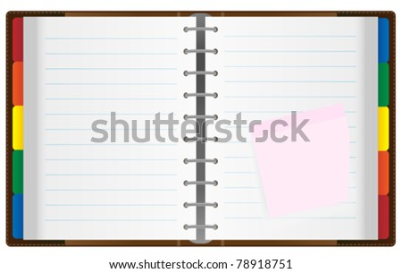 Illustration of Notebook / Organizer Isolated on White