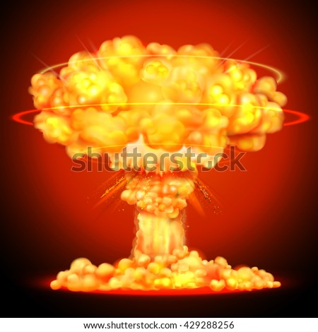 illustration of nuclear bomb
