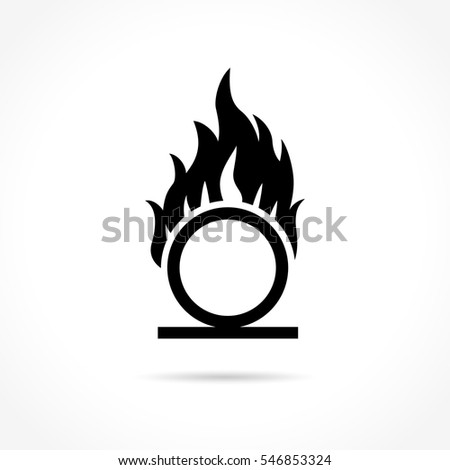 Shutterstock Illustration of oxidizer icon on white background