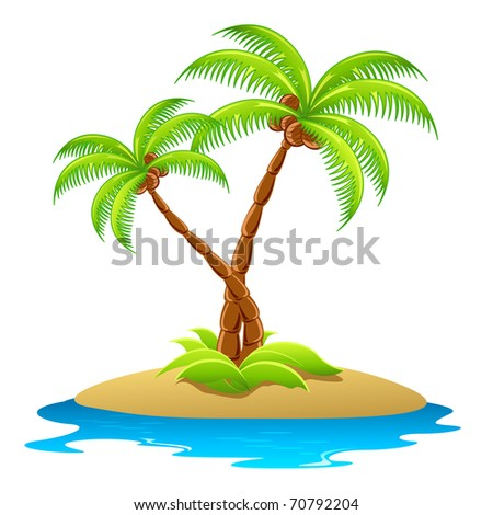 illustration of palm tree in