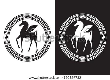 Illustration of Pegasus the flying horse