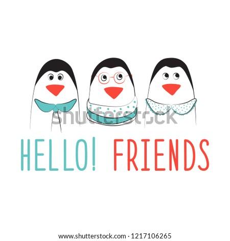 illustration of penguin in the