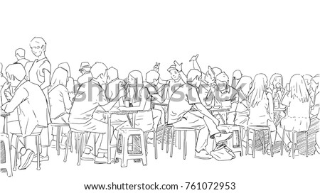 illustration of people drinking