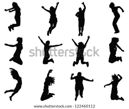 illustration of people jumping
