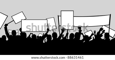 illustration of people protesting