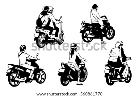 illustration of people riding