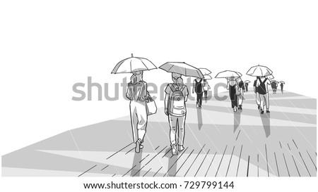 illustration of people walking
