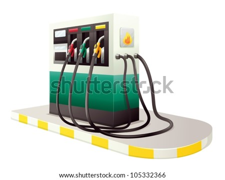 illustration of petrol dispensing unit on a white background