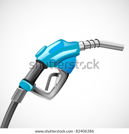 illustration of petrol nozzle on abstract background - stock vector