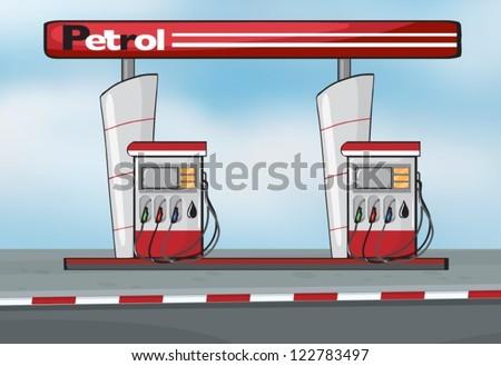 illustration of petrol station