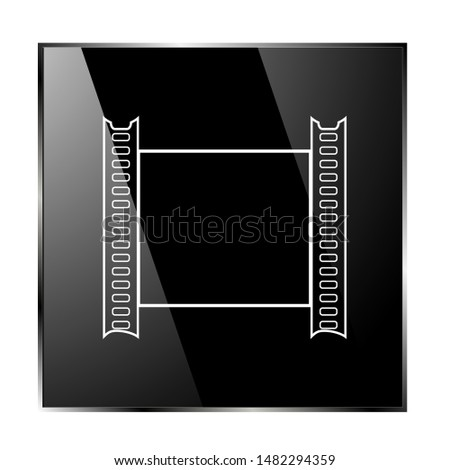 Illustration of photographic film. photographic film vector. Icon
