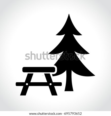 Illustration of picnic table icon