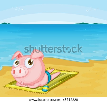 illustration of piggy on a white background