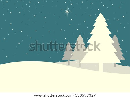illustration of pine trees on