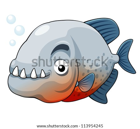 illustration of piranha fish vector