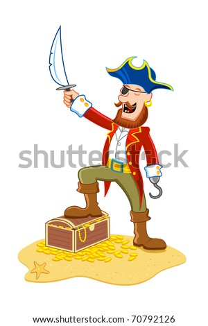 illustration of pirate holding