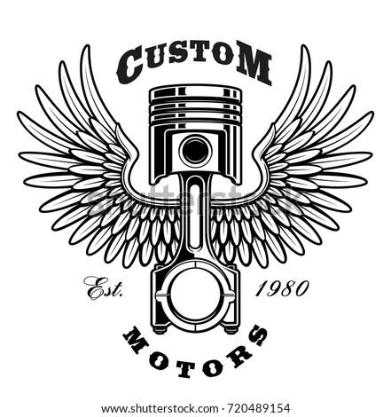illustration of piston with...