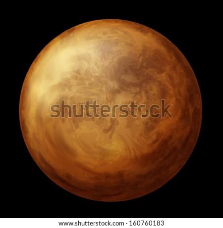 illustration of planet venus