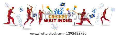illustration of player batsman