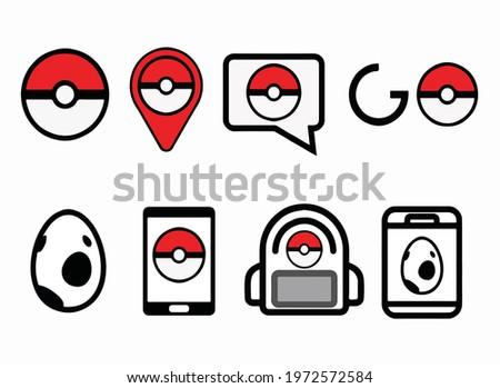 illustration of pokemon