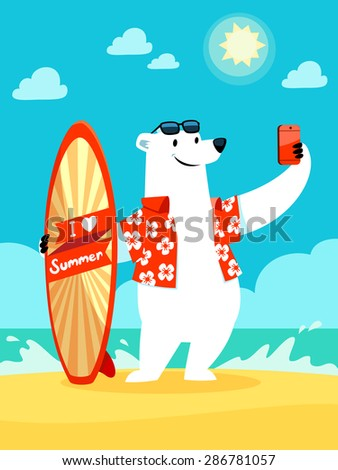 illustration of polar bear with