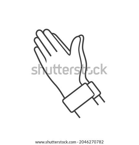 illustration of praying hands