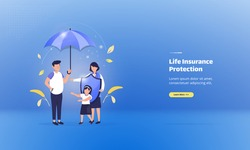 Illustration of protecting a family with life insurance