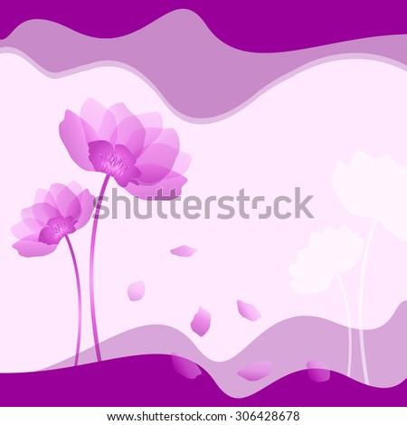 Illustration of purple flower on purple background