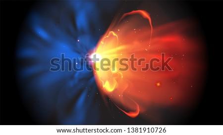illustration of quasar burst in