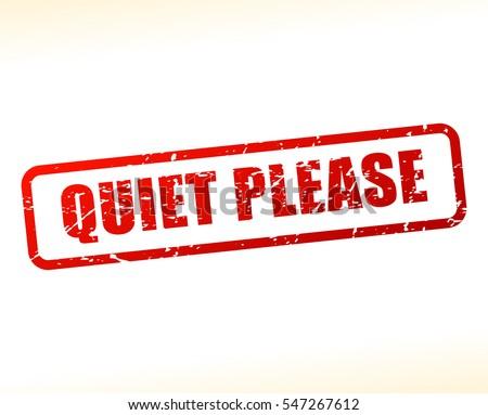 illustration of quiet please