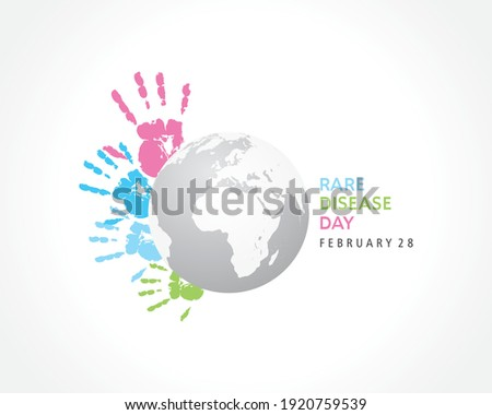 Illustration Of Rare Disease Day observed on February 28  Foto stock ©