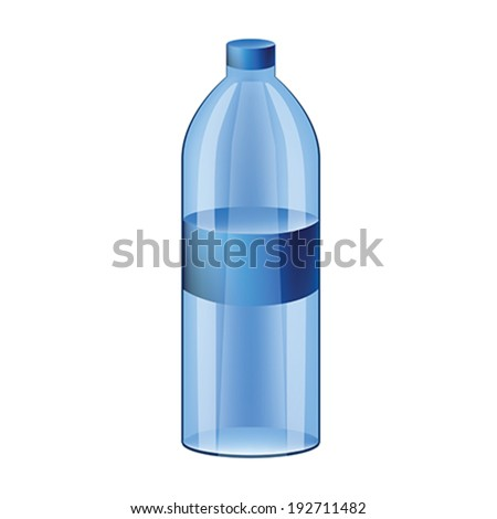 Illustration of realistic  water bottle