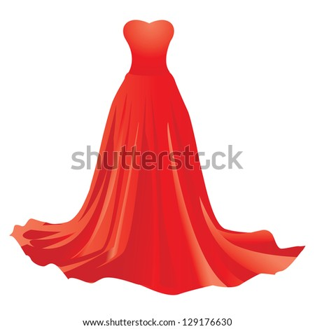 illustration of red dress