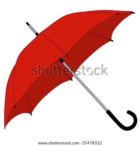 illustration of red umbrella