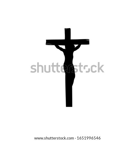 Illustration of religious symbol crucifix. Jesus Christ on cross a symbol of Christianity. Cross with crucifixion. Stock photo ©