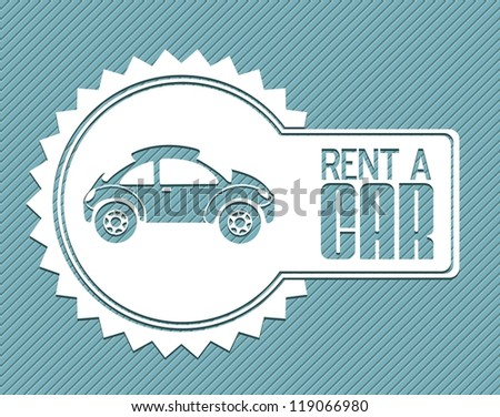 Illustration of rent a car, car icons, vector illustration - stock vector