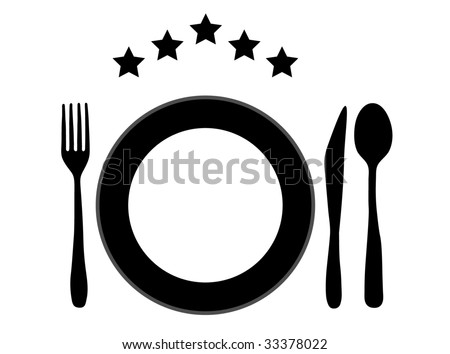 illustration of restaurant set