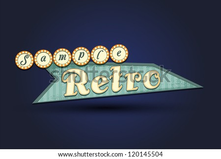 Illustration of retro