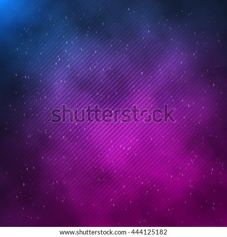 Illustration of 1980 Retro Neon Poster. Outer Space Background
