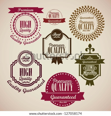 illustration of retro vintage label, Premium Labels, vector illustration