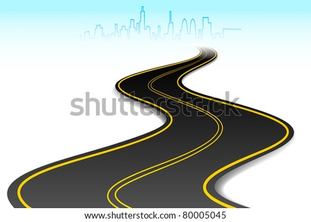 illustration of road going to