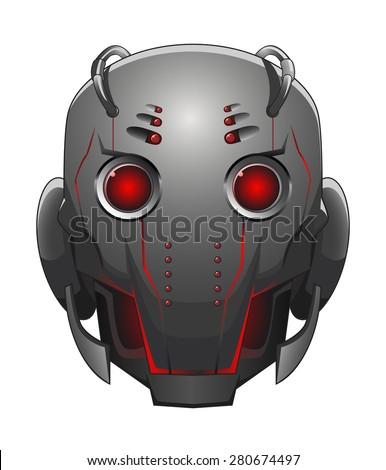 illustration of robot head