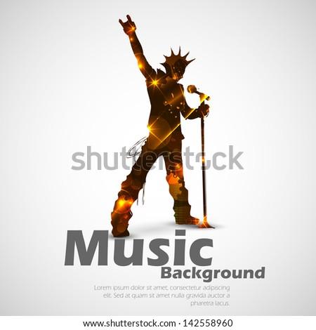 illustration of rock star