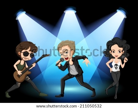 illustration of rock stars on